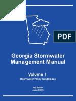 Georgia Stormwater Management Manual Volume 1