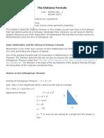 The Distance Formula Module