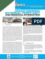 The ECOWAS CET and Regional Integration ECO VANGUARD Dec 2012 English Edition
