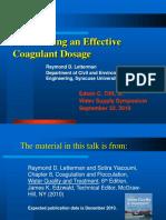 PH Coagulant Dosage