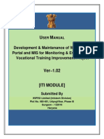 DGET-MIS User Manual Data Entry by ITI