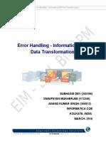 Error Handling - Informatica B2B Data Transformation