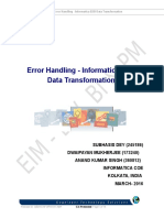 Error Handling - Informatica B2B Data Transformation