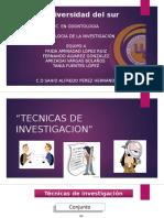 M.I. Tecnicas de Investigacion
