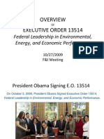 Executive Order 13514 October 2009 Environmental