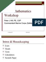 CSP Math Course