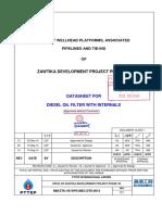 MM ZTK 1B WPX MEC DTS 0013 Rev.C1 Diesel Oil Filter With Internal