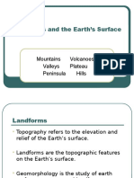 landforms and earth surface