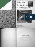 Sociabilidad en Buenos Aires. Hombres Ho