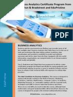 Business Analytics Course Brochure