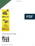 Anti Carbonation Coatings