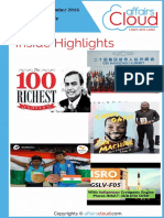 Current Affairs Study PDF - September 2016 by AffairsCloud