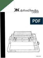 Epson ActionPrinter L-1000 User's Manual