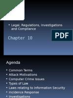 CISSP - 10 Legal, Regulations, Investigations & Compliance