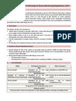 Brief on Net Metering