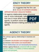 Agency Theory & Conflicts of Interest