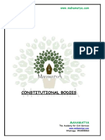 Constitutional Bodies-Indian Polity