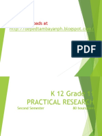 K 12 Grade 11 Practical Research 1 Simplified