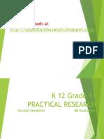 K 12 Grade 11 Practical Research 1 Simplified