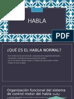 HABLA - Disartrias