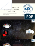 A Micro-satellite Thermal Control Analysis