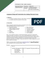 UEEA2333 Assignment 2014