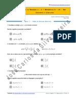 Ficha de Trabalho n.º 2 - Conjuntos e Condições