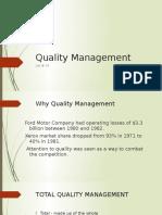 Quality Management Lec 14