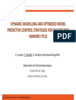 Dynamic Modelling and Optimized Model Predictive Control Strategies for the ORC