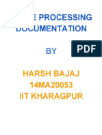 Image Processing Documentation by Harsh Bajaj