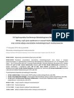 Program VII OKMM