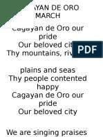 Cagayan de Oro March