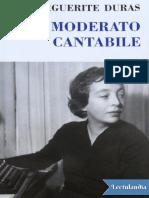 Moderato Cantabile Marguerite Duras