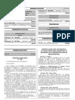 Decreto Legislativo que modifica el Código Penal para garantizar la eguridad de la infraestructiura de hidrocarburos