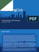 Lending Club Q3 2016 Earnings Presentation