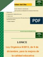 Ppt Lomce Evaluacion Inspeccion