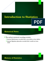 Introduction to Statistics (1)