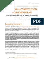 Framing a Constitution for Robotistan October 2013