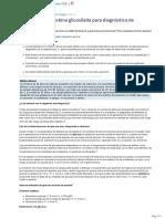 Uso de La Hemoglobina Glicosilada Para Diagnostico de Diabetes