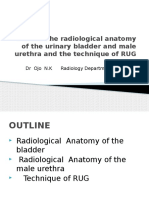 Discuss the Radiological Anatomy of the Urinary Bladder