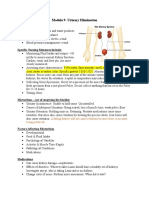 Module 9- Urinary Elimination