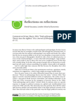 David Graeber - Reflections on reflections