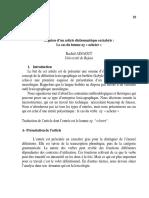Esquisse d'Un Article Dictionnairique en Kabyle