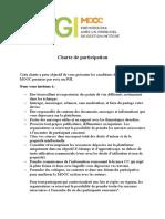 Charte de Participation