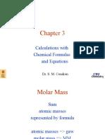 Perhitungan  persamaan kimia