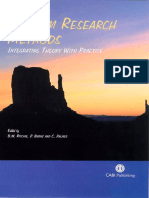 Tourism Research Methods Integrating Theory With Practice