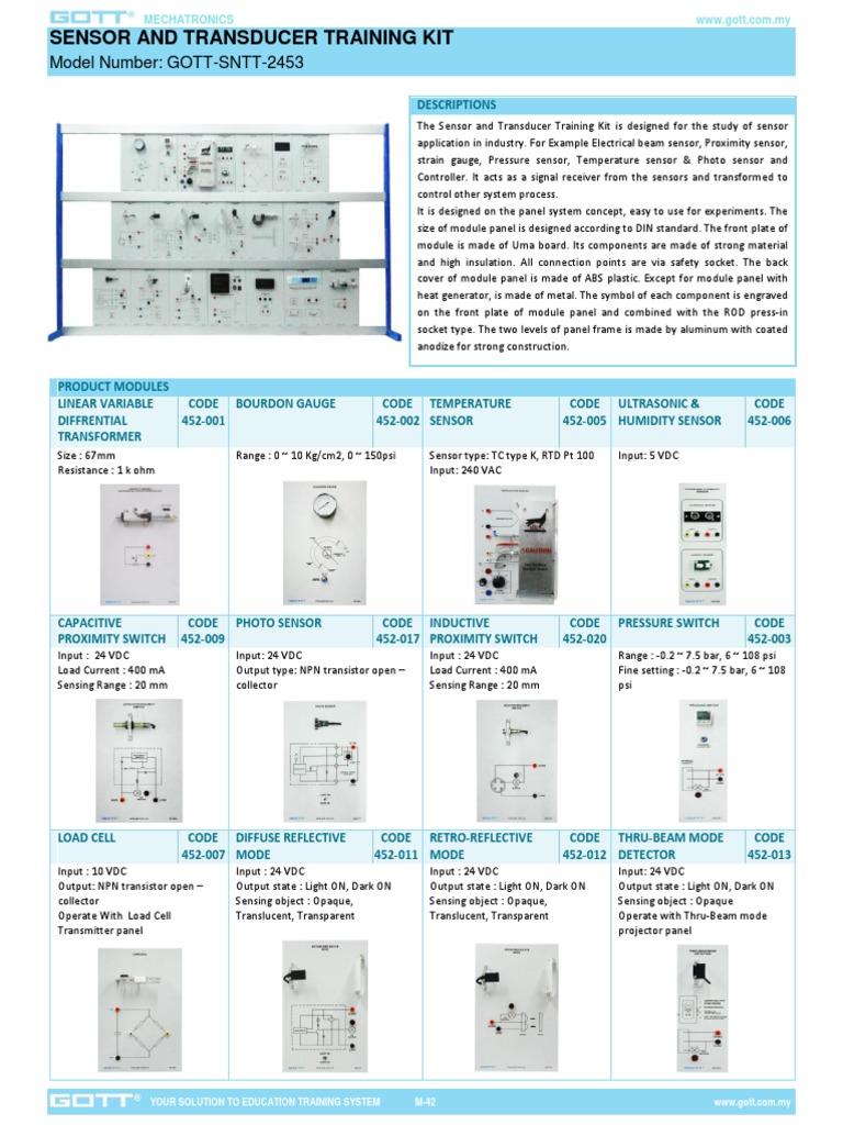 Sensor And Transducer Training Kit Bipolar Junction Transistor Capacitance Proximity Switch Circuit