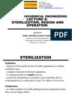 CHE 503 Lecture 8 - Sterilization