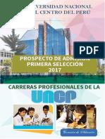 Prospecto de Admisión UNCP PRIMERA SELECCIÓN 2017.pdf
