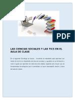 Decalogo Las Ciencias Sociales y Las Tics en El Aula de Clase